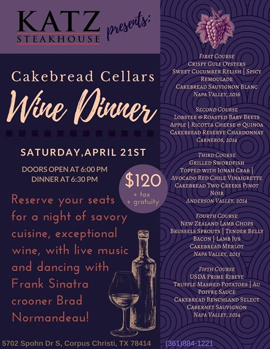 Cakebread Cellars Wine Dinner  sc 1 st  Katz 21 Steak u0026 Spirits & Cakebread Cellars Wine Dinner u2022 Katz 21 Steak u0026 Spirits